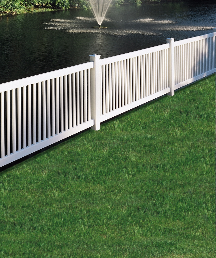 Princeton Cover Letter: Bufftech Princeton Contemporary Vinyl Fence